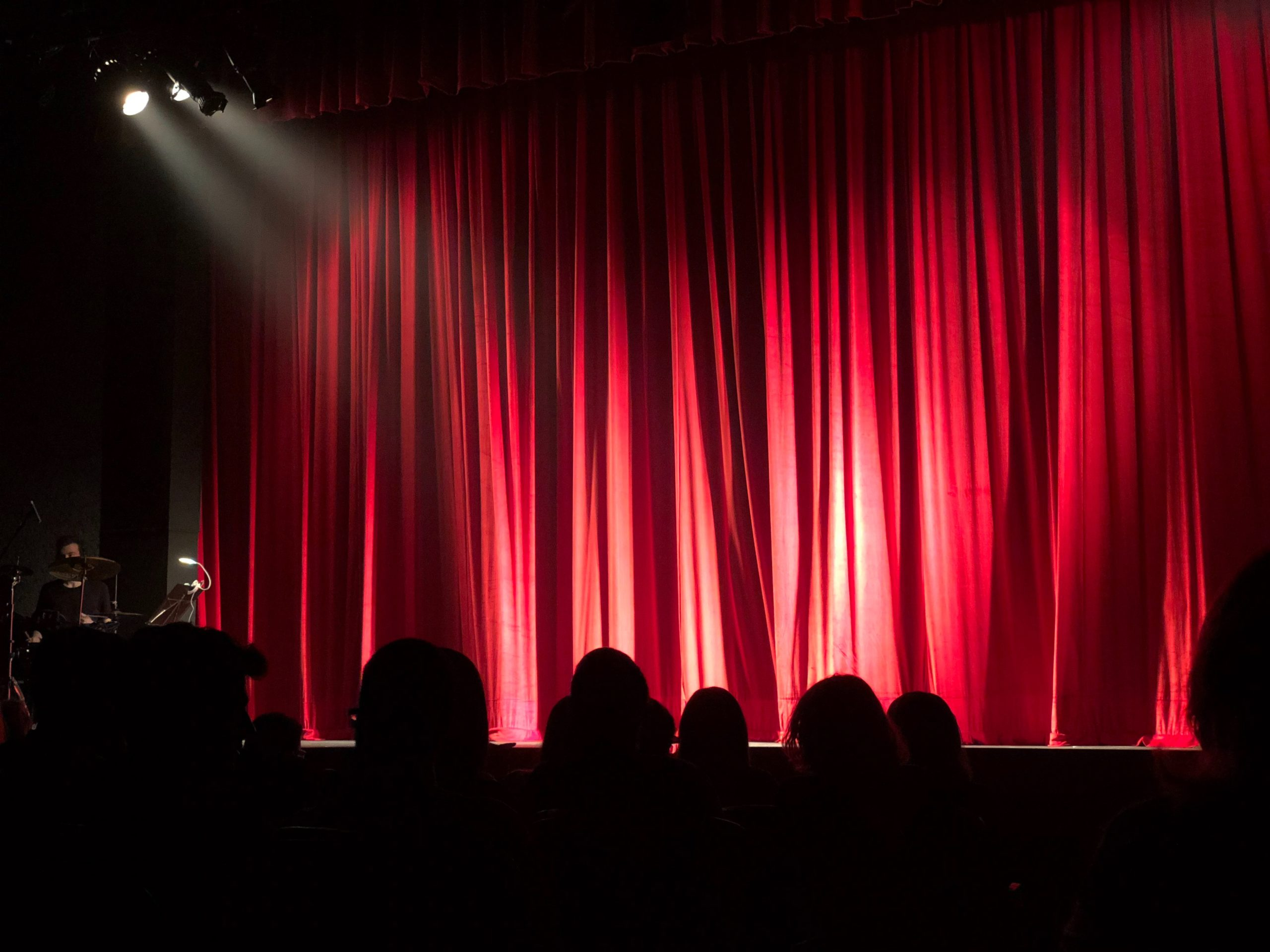 website Background theatre stage red curtains lights